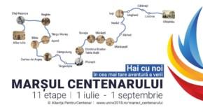 Marșul Centenar ajunge la Râmnicu-Vâlcea