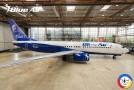 Blue Air, care a achiziționat Air Moldova, va inaugura a doua aeronavă personalizată în cinstea Centenarului