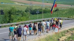 Marșul Centenarului: Flacăra Unirii a ajuns în județul Cluj