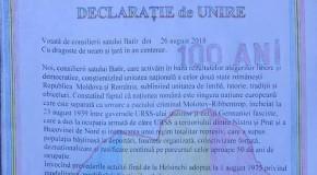 Batîr, Declarație de Unire cu România