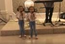 """(VIDEO) Emoționant: Două fetițe din Bălți cântă """"Acasă-i România"""""""