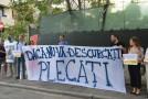 """(FOTO)""""De ce tolerați furtul de bani publici?"""" Protest la Ministerul pentru Românii de Pretutindeni"""